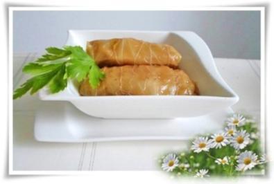 Kohlrouladen mit Hackfleisch – Reis - Füllung - Rezept