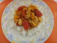Tomaten mit Mango und Hähnchen - Rezept