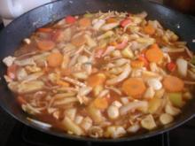 Hähnchenbrustfilet-Gemüse-Wok süss-sauer - Rezept