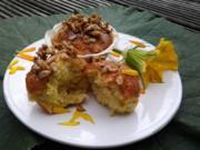Kürbisküchlein mit gebrannten Sonnenblumenkernen - Rezept