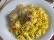 Paella mit Kaninchen und Gemüse - Rezept