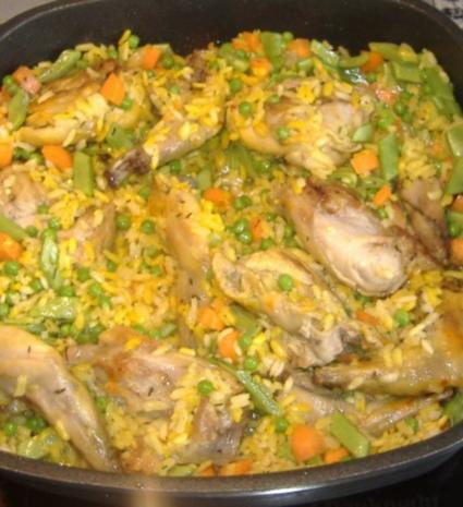 Paella mit Kaninchen und Gemüse - Rezept - Bild Nr. 5