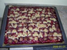 Kuchen: saftige Zwetschgen mit Butterstreuseln - Rezept