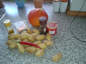 Ofenkartoffeln  mit Hokkaidokürbis - Rezept
