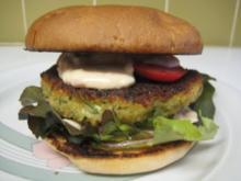 Zucchini-Kichererbsen-Burger - Rezept