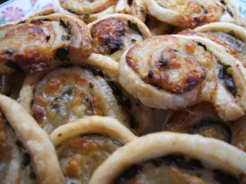 Pikantes Backen: Blätterteigschneckchen mit pikanter Füllung - Rezept