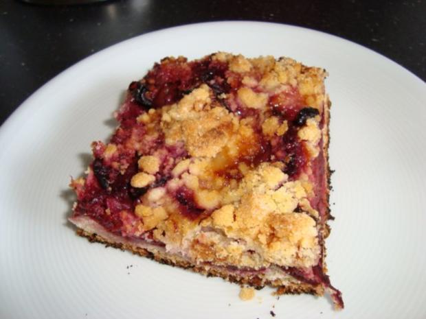 Pflaumen - Streuselkuchen - Rezept