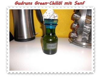 Öl: Green-Chiliöl mit Senf - Rezept