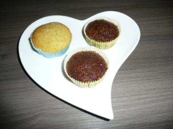 Karotten - Nuss - Muffins + Kokosmuffins - Rezept