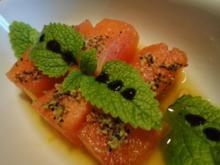 marinierte Pfeffer Melone - Rezept