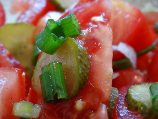 Tomaten-Gurken Salat - Rezept