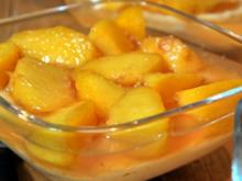 Pfirsich-Kompott auf Kardamom.-Grieß - Rezept