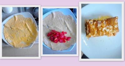 Schnelles Eieromlet mit Frischen Tomaten einfache Variante - Rezept