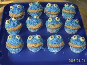 Rezept: Muffins: Lustige Monster-Gesichter
