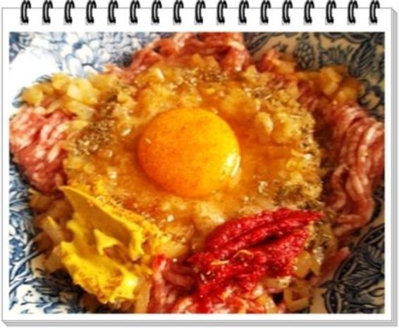 Fleisch-Kartoffelbällchen-Spieß auf Tagliatelle - Rezept - Bild Nr. 5