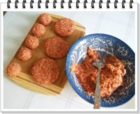 Fleisch-Kartoffelbällchen-Spieß auf Tagliatelle - Rezept - Bild Nr. 6