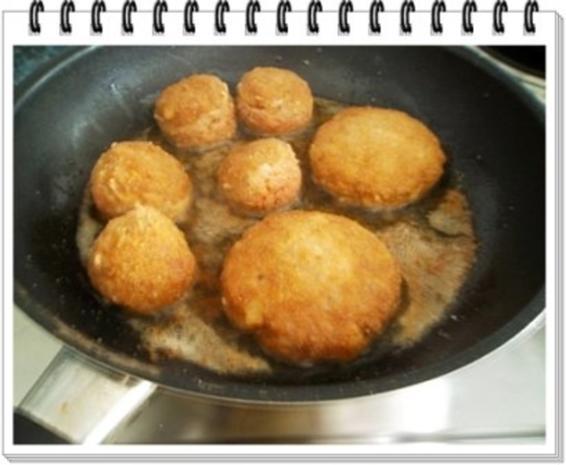 Fleisch-Kartoffelbällchen-Spieß auf Tagliatelle - Rezept - Bild Nr. 8