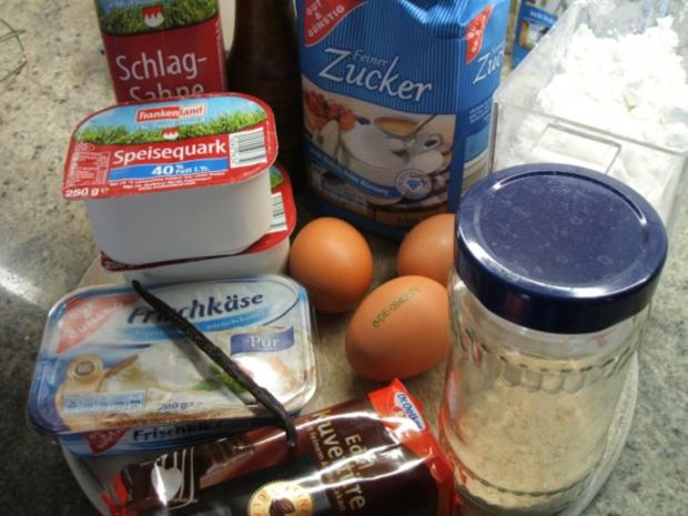 Backen: Zweifarbiger Käsekuchen mit Mangosahne  ***Happy Birthday, liebe Eva-Maria*** - Rezept - Bild Nr. 6