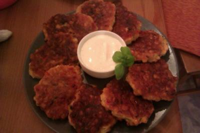 Maisküchlein mit Quarkdipp - Rezept