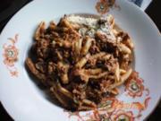 Pasta mit Lammhack - Rezept