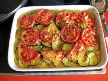 Auflauf mit Kartoffel Zucchini und Tomaten Vegetarisch - Rezept