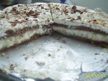 Rezept: Kuchen: Festliche Apfel-Sahne-Torte