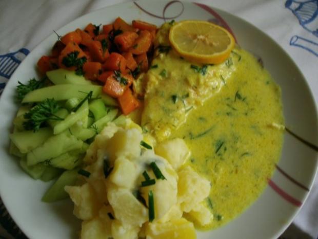 gedünstetes Schollenfilet  in grüner Currysauce - Rezept - Bild Nr. 11