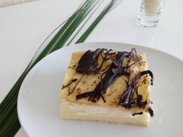 Brandteigkuchen mit Vanillecreme, dazu Waldbeermus (so wird das in Ungarn gemacht) - Rezept - Bild Nr. 2