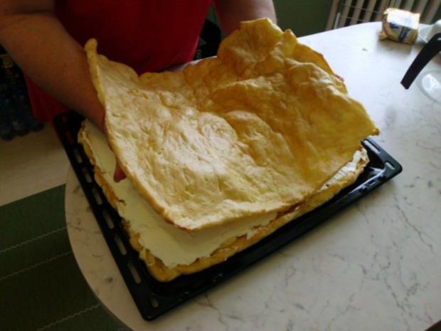 Brandteigkuchen mit Vanillecreme, dazu Waldbeermus (so wird das in Ungarn gemacht) - Rezept - Bild Nr. 21