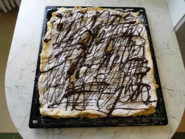 Brandteigkuchen mit Vanillecreme, dazu Waldbeermus (so wird das in Ungarn gemacht) - Rezept - Bild Nr. 24