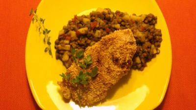 Salat : Lauwarmer Asia Linsensalat - Rezept