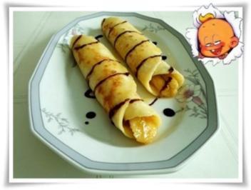 Pfannkuchen mit gebratener Banane gefüllt - Rezept