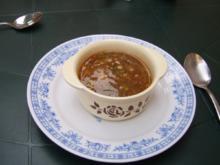 Chinesische Glasnudelsuppe mit Pfifferlingen und Sago - Rezept