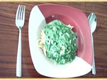 Spaghetti an Spinat-4-Käse-Sauce - Rezept