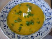 Kürbiscremesuppe mit Eismeer-Garnelen - Rezept