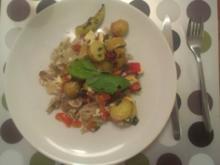 Chicoree mit ueberbackenen Fetakäse - Rezept