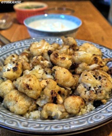 Orientalische Blumenkohl-Couscous-Pfanne mit Joghurt-Dipp - Rezept - Bild Nr. 15