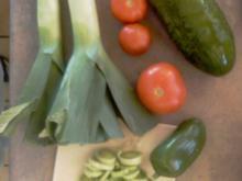 Nudelsalat mit gebratenem Gemüse - Variante 2 - Rezept