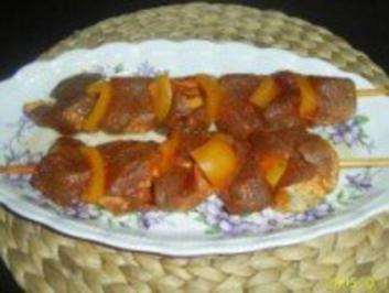 Fleischspieße: Würzig fruchtiges Schweinefilet - Rezept