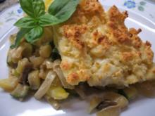 Auflauf: Vegetarischer Auflauf mit Mozzarella-Streusel - Rezept