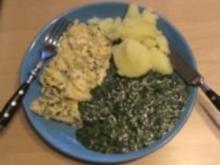 Eier: Klassischer Spinat mit Rührei - Rezept
