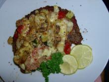 Vollkorn-Bruschetta mit Thunfisch und Käse überbacken - Rezept