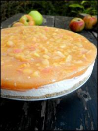 Apfel-Frischkäse-Torte - Rezept
