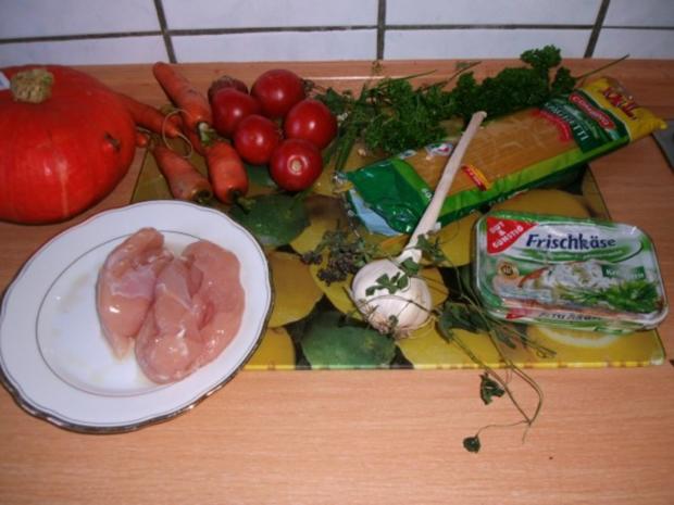 Pfannengericht Spaghetti mit Kürbis und Möhre - Rezept - Bild Nr. 4