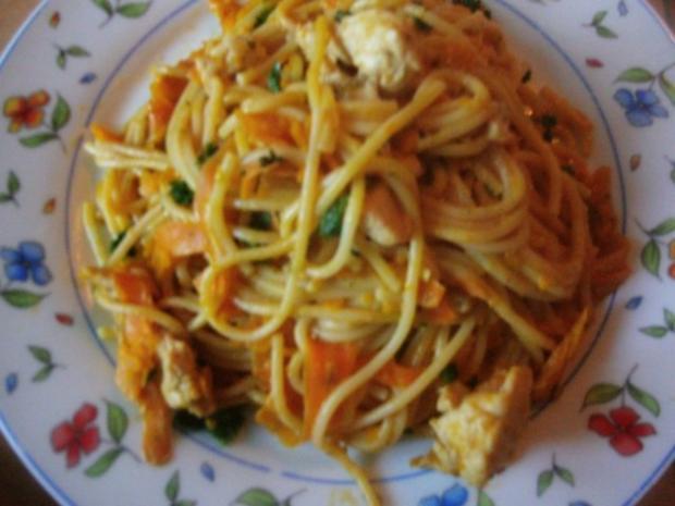 Pfannengericht Spaghetti mit Kürbis und Möhre - Rezept - Bild Nr. 15
