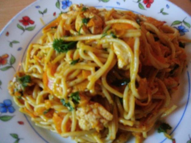 Pfannengericht Spaghetti mit Kürbis und Möhre - Rezept - Bild Nr. 16