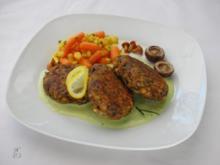 Pilz-Frikadellen mit Avocadosauce - Rezept