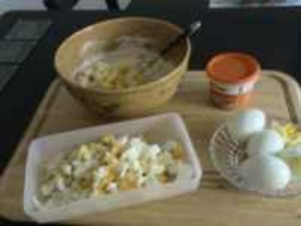 Party-Idee: Pikanter Eiersalat... - Rezept