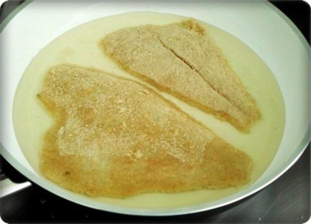 Gebratene Scholle auf Gemüsebett mit leckerem Stampfkartoffel - Türmchen - Rezept - Bild Nr. 9