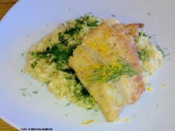 Gebratener Kabeljau auf Zitronen-Risotto - Rezept